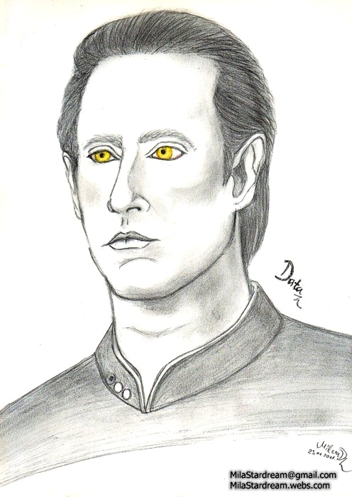 Data portrait (Star Trek: The Next Generation)