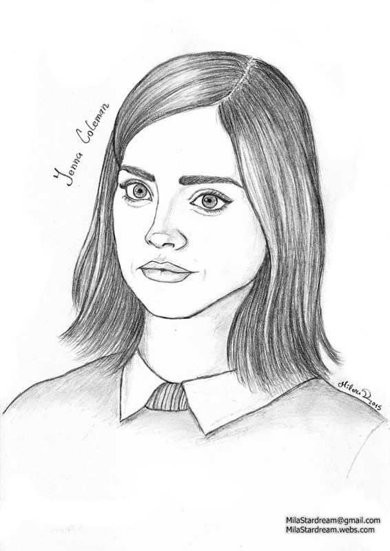 Jenna Coleman portrait (Doctor Who)